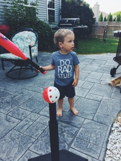 This boy took all of two minutes to learn how to hit the ball