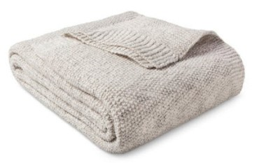 sweater knit throw blanket
