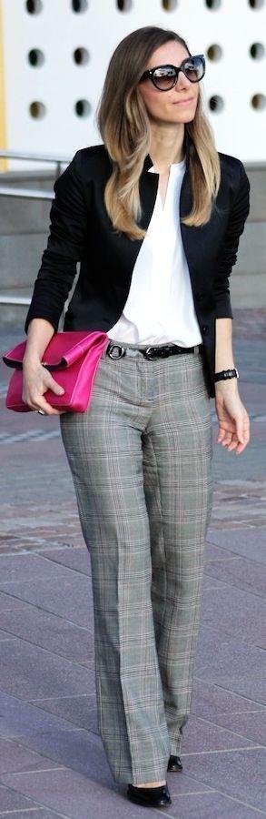 look vestir bien en la oficina con pantalones