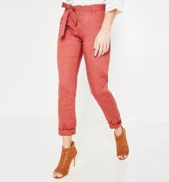 pantalones lino pierna estrecha