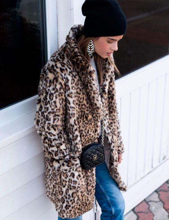 abrigo pelito leopardo