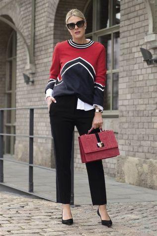 jersey de lana con pantalon de vestir
