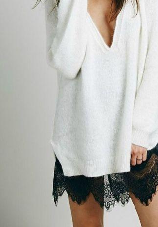 jersey de lana sobre vestidos