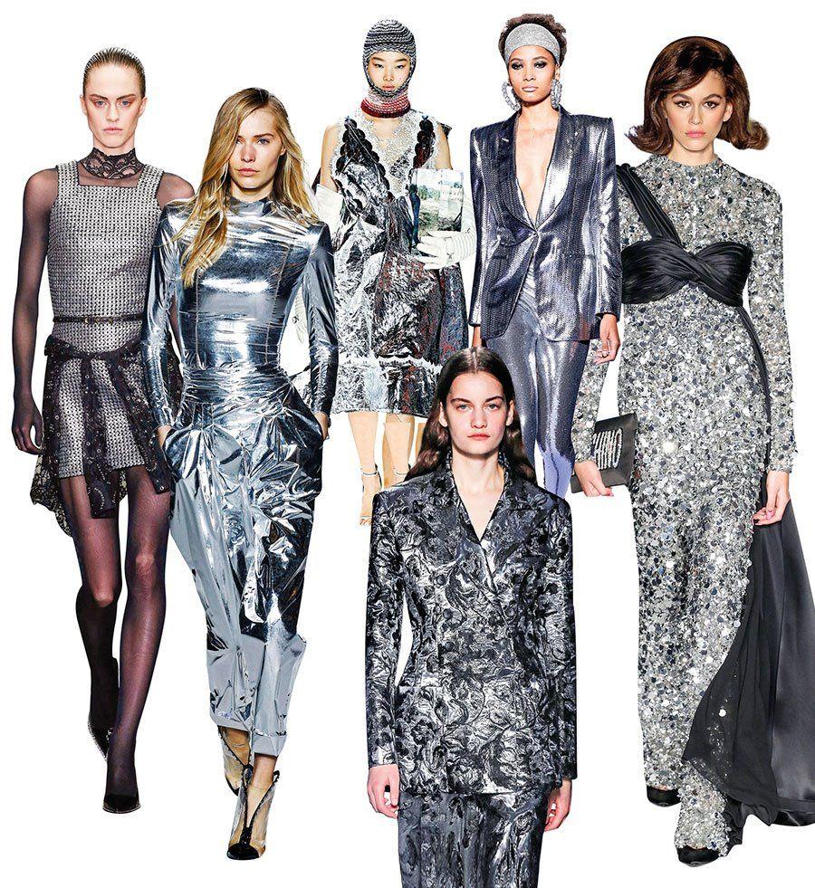 plateado tendencia moda invierno 2019