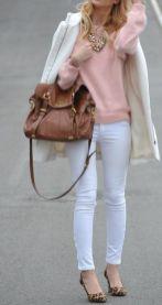 colores pastel con camel y blanco