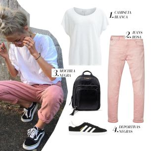 looks colores pastel sport/chic