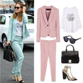 traje colores pastel rosa tendencia 2019
