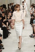 CHANEL resort 2014 Singapore - Beige top and skirt