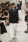 CHANEL resort 2014 Singapore - black jacket with white pants