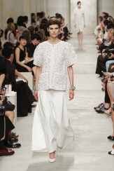 CHANEL resort 2014 Singapore - White top with skirt