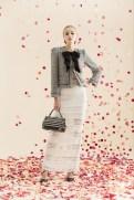 Alice + Oliva Resort 2014 - Grey jacket with bow and white skirt