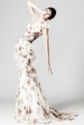Zac Posen Resort 2014 - White dress with print