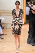 Zuhair Murad Fall 2013 Couture - Beige and black jacket and skirt
