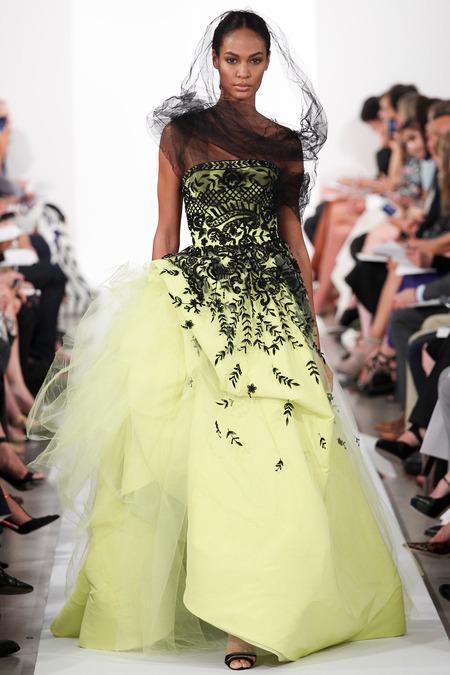 Oscar de la Renta Spring 2014 - lime green dress