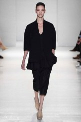 Victoria Beckham Spring 2014- Black jacket, shirt, and pants