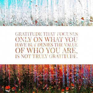 Read more about the article Are you grateful for you?