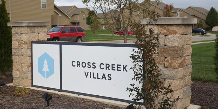 Cross Creek Villas - Columbia MO signage
