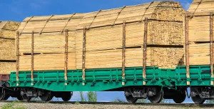 lumber delivery wagon
