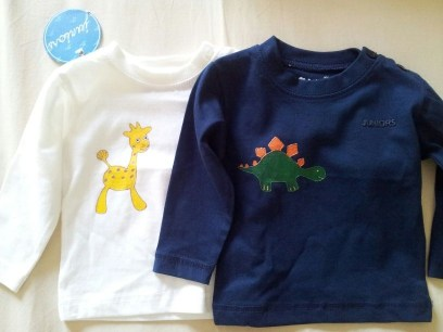 Fabric painted boys' shirts