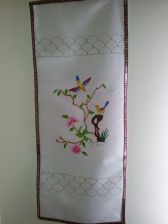 Fabric painted wall hanging