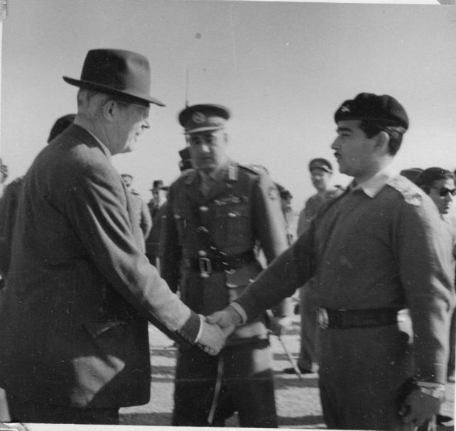 Meeting the Prime Minister of Britain Harold Macmillan