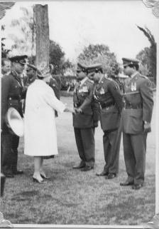 Shaking hands with HRM Queen Elizabeth