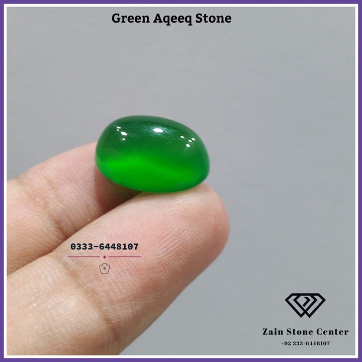 Natural Aqeeq Green