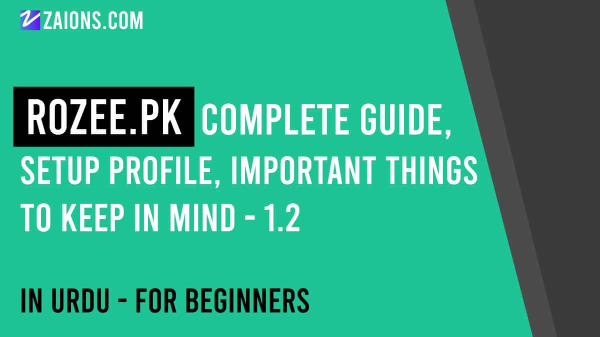 Rozee.pk-Complete-Guide,-setup-profile,-important-things-to-keep-in-mind---zaions.com
