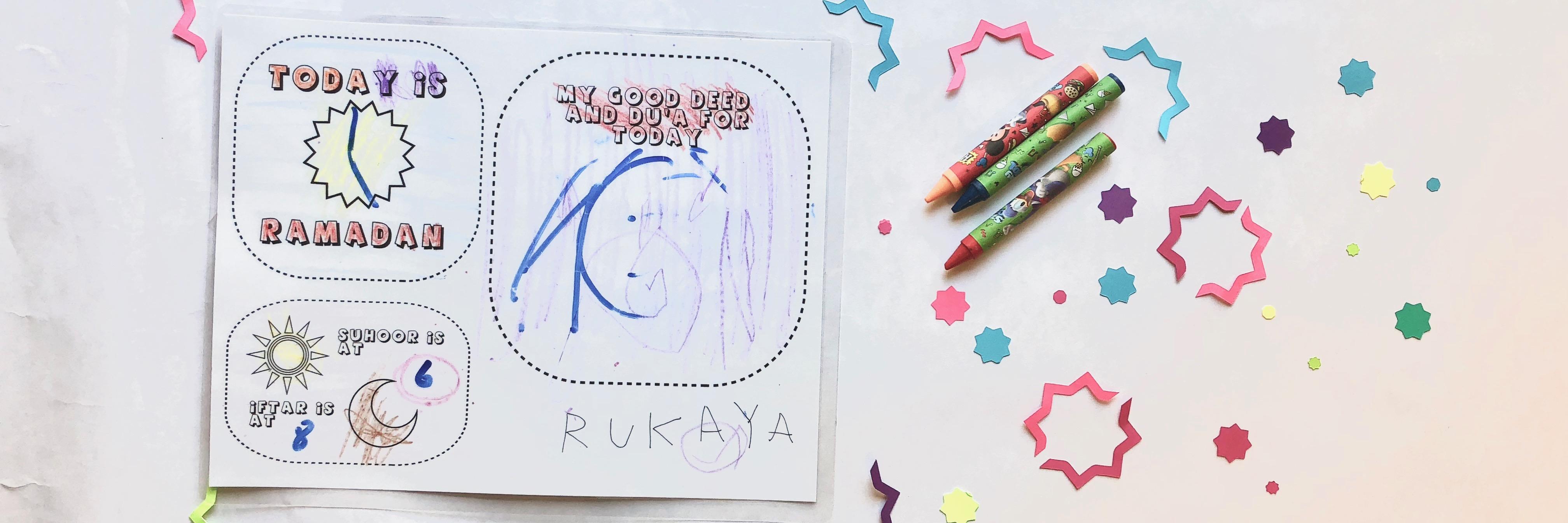 FREE DIY Placemat Printable | Ramadan Mubarak!