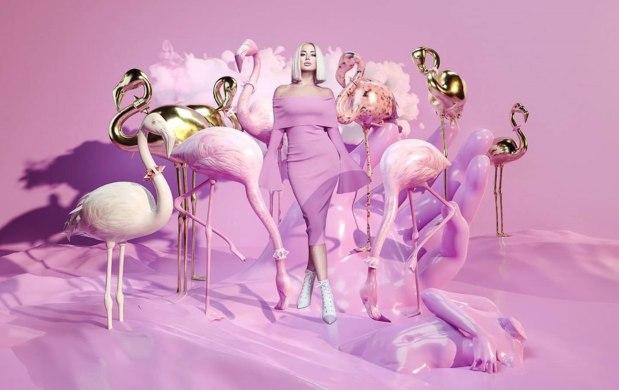 Цветелина Янева фотосесия фламинго