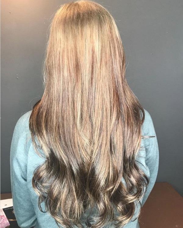 боядисване тип балеаж на черни коси