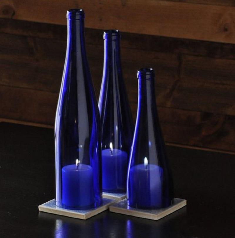 изделия от стъклени бутилки