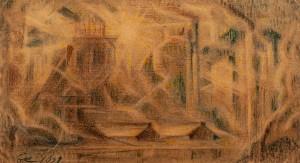 Косарєв Б. 'Ранок', 1928, пап.зміш.техн