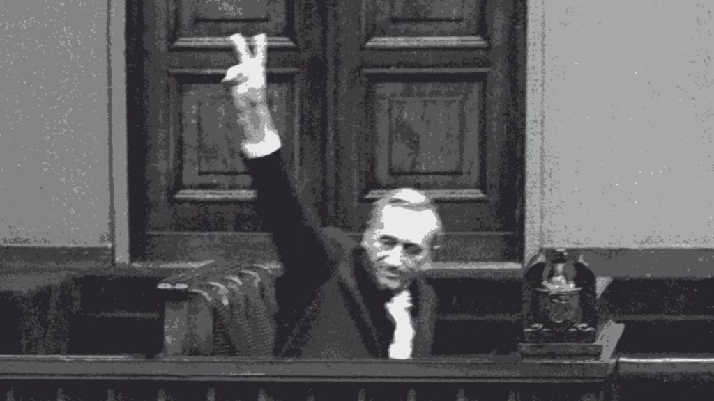 Tadeusz Mazowiecki w sejmie 1989