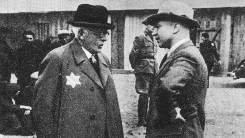 Chaim Rumkowski i Hans Biebow