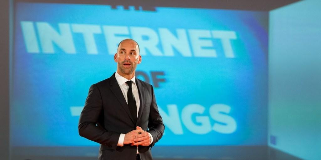"""Richard van Hooijdonk tijdens """"Internet of Things Event Live"""""""