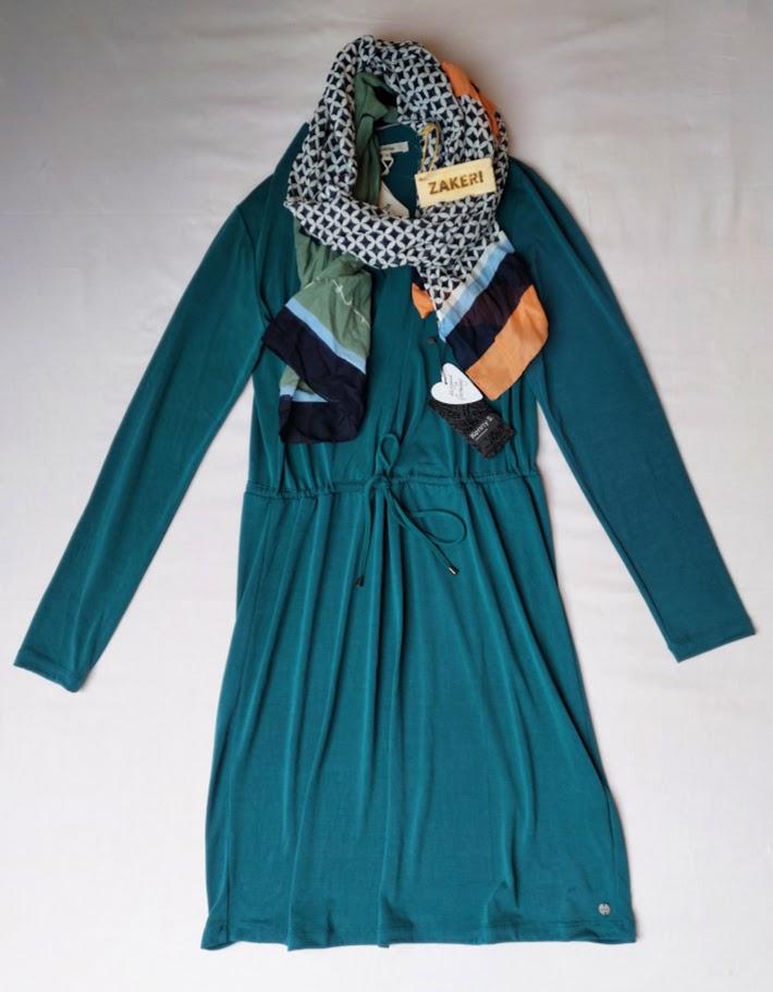 Šaty zelené dlouhý rukáv Garcia