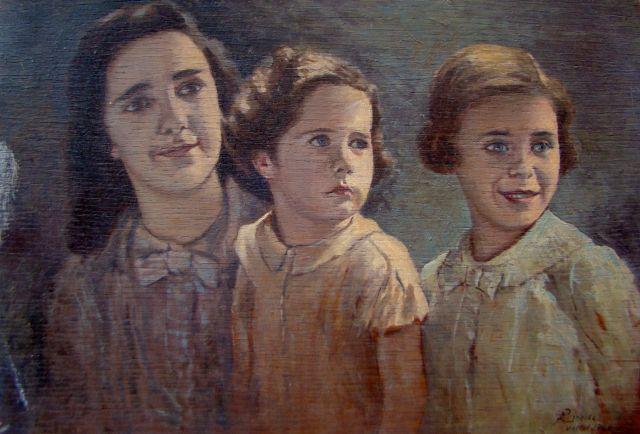 Peinture famille faite à Vittel