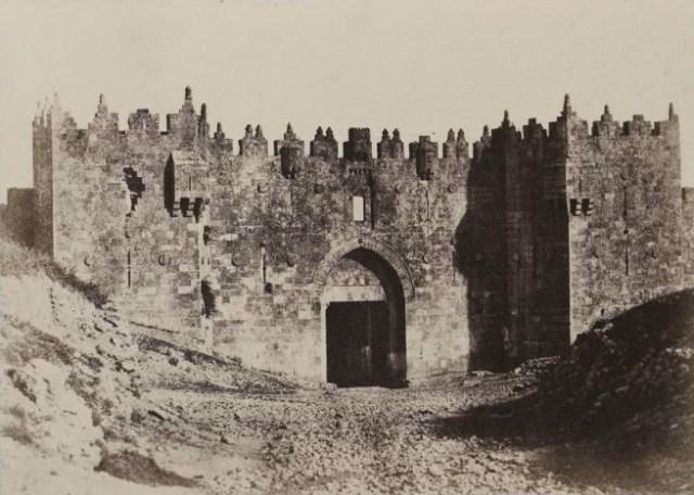 Porte de Damas à Jérusalem en 1854