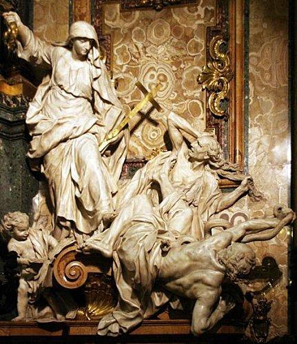349h-Rome--chiesa-del-Gesu--religion-ecrasant-l-heresie