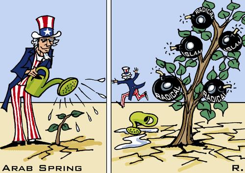 Arab spring caricature