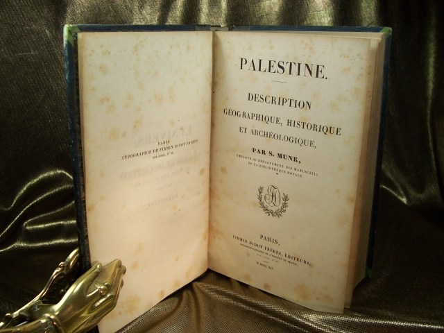 Livre Palestine Munk