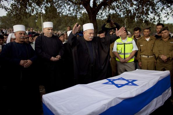 Enterrement d'un soldat druze