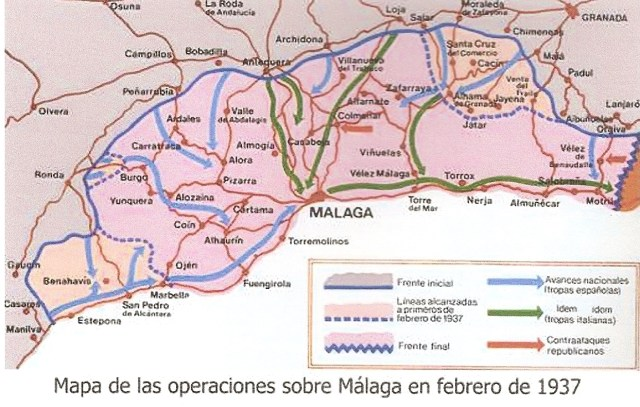 Malaga, Février 1937