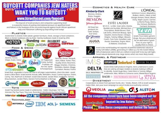 Boycott des produits israéliens