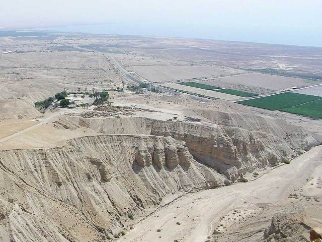 Qumran, vue panoramique