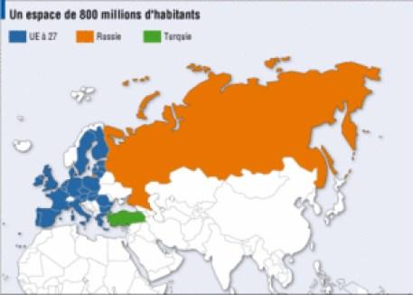 Carte Europe-Russie