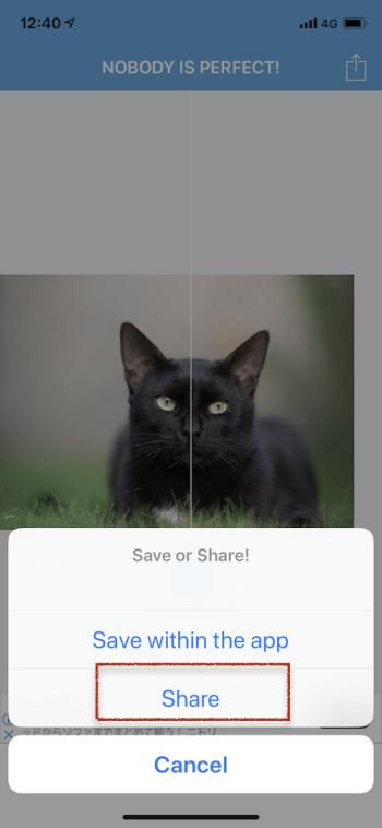 iPhoneで画像のミラーを行う方法