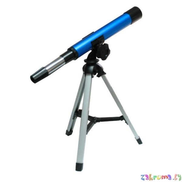 Детский телескоп с подставкой металлический юный звездочет