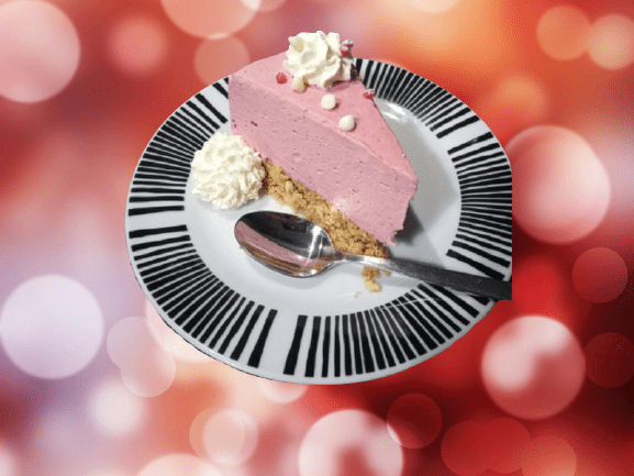 A slice of fruity cheesecake image